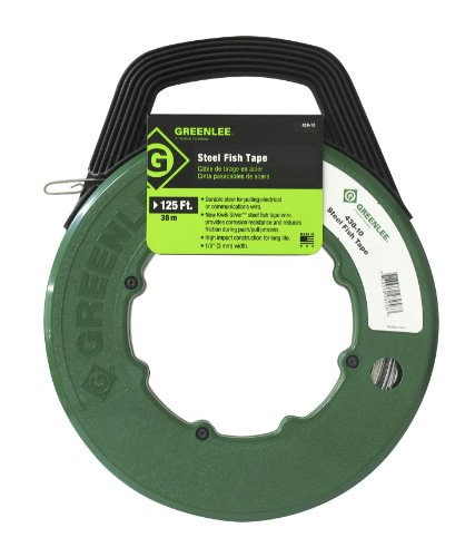 Greenlee 332-438-10 MagnumPRO Oil-Tempered Spring Steel Fish Tape, 125' Length x 1/8