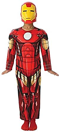 Iron Man Boys Costume Movie Marvel Comics Superhero Jumpsuit and Mask