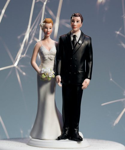 &quot;The Love Pinch&quot; Bridal Couple Figurine