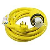 Conntek 14435 25-Foot RV Power Cord RV 30 Amp Male Plug To 50 Amp 125/250 Volt Locking Female Connector