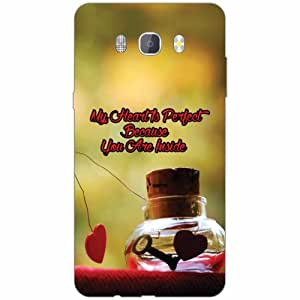 Samsung J7 new edition 2016 Back Cover - Silicon Inside The Heart Designer Cases