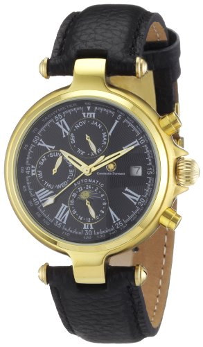 Constantin Durmont Men's Automatic Watch CD-MIRG-AT-LT-GDGD-BK with Leather Strap