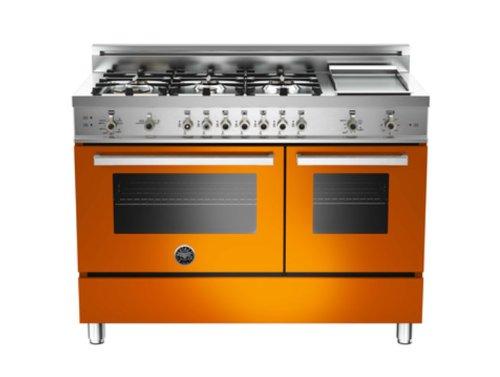 Pro486Ggasar | Bertazzoni Professional 48 Gas Range, Natural Gas - Arancio Orange