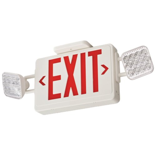 Lithonia Ecr Led Ho M6 High Output Red Led Emergency Exit Combo, White