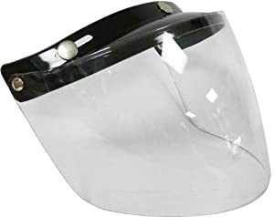 Motorcycle Motorbike Scooter Touring Flip-Front Visor Only for RS -04 Open Face Helmets