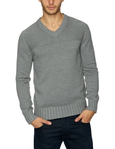 Esprit J30314 Men's Jumper Medium Grey Melange Small