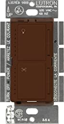 Lutron MA-LFQM-SI Maestro 300-Watt Multi-Location Digital Dimmer 1-Amp Quiet Fan Control with Canopy Module, Sienna