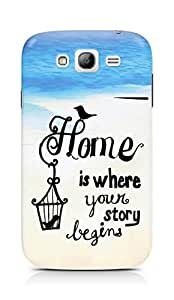 AMEZ home is where your story begins Back Cover For Samsung Grand Neo Plus