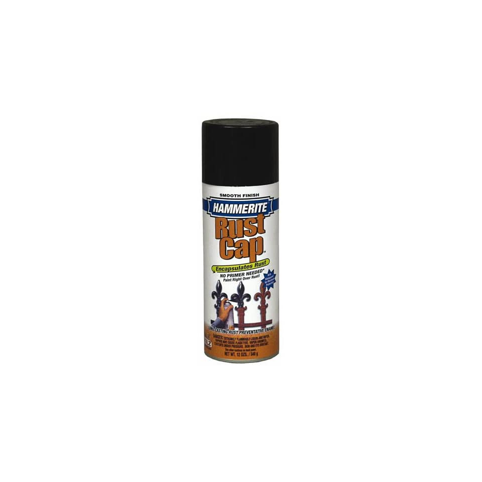 Hammertite Smooth Aerosol Spray Paint, Flat Black