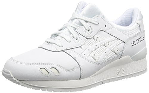 Asics Gel-Lyte III, Scarpe sportive, Unisex-adulto, Bianco (White 101), 43