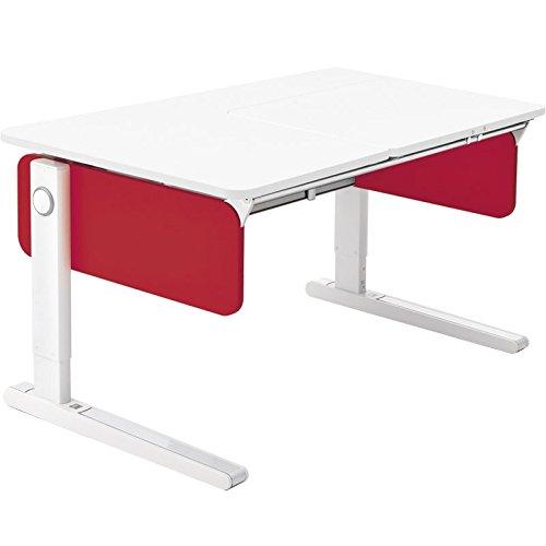 Moll Champion Style Front Up Schreibtisch | rot | 120 x 72 x 53-82 cm (Breite x Tiefe x Höhe) | höhenverstellbar