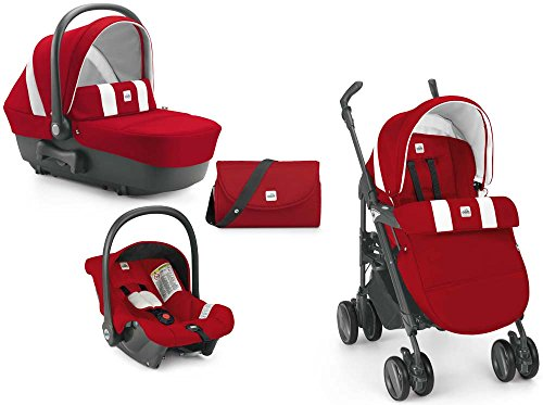 CAM il Mondo del Bambino ART784015 Combi Tris Sistema Modulare, Rosso/Latte