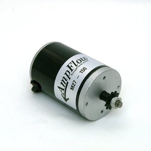 AmpFlow M27-150 Brushed Electric Motor, 150W, 12V, 24V or 36 VDC, 3800 rpm (Brushed Electric Motor compare prices)