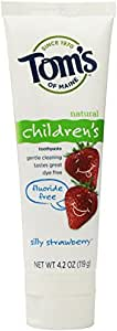 Toms Of Maine Children's Natural Toothpaste Fluoride Free Silly Strawberry, 4.2 oz