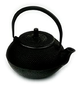 Black Nailhead Cast Iron Japanese Tetsubin Tea Pot Kettle 17 oz.