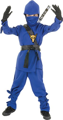 Boys Ninja Blue Kids Child Fancy Dress Party Halloween Costume