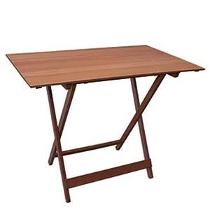 Tavolo pieghevole in legno massello colore noce serie nut - Tavolo in legno pieghevole ...