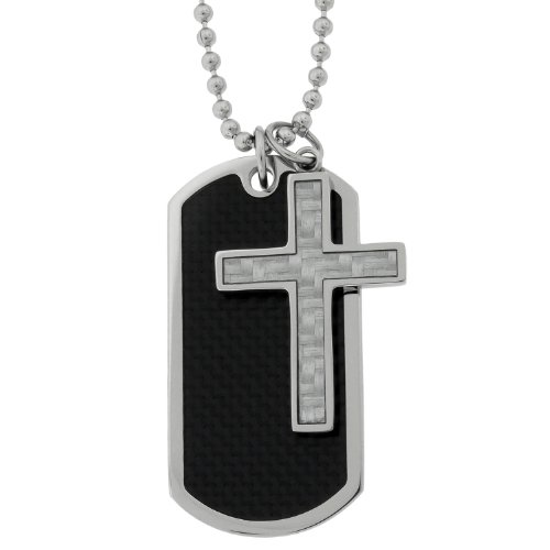 Cross Dog Tag Pendant