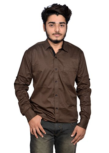 2 Brothers plain solid casual cotton shirt for mens
