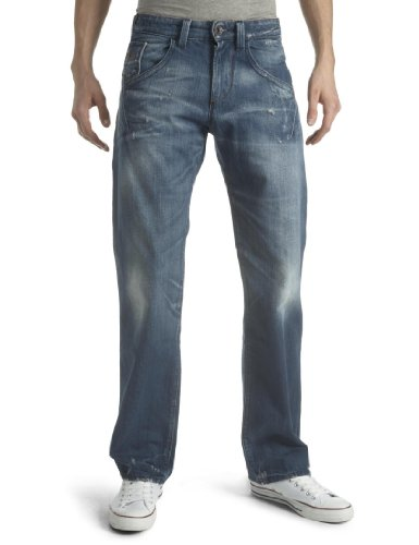 Energie Men's Aries Jeans 34 Leg / 32 Waist Blue Denim