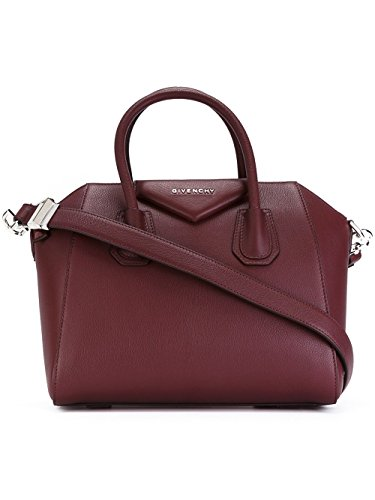 givenchy-womens-bb05117012642-burgundy-leather-tote