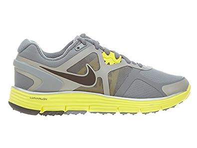 Nike Lunarglide+ 3-shield Womens Running Shoe Style # 472524-002 (5, Cool Grey/Black-Sonic Yellow-Reflective Silver)