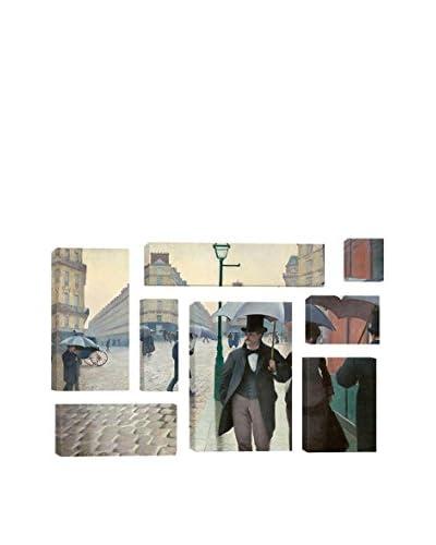 Gustave Caillebotte Paris Street: A Rainy Day 8-Piece Canvas Print Set