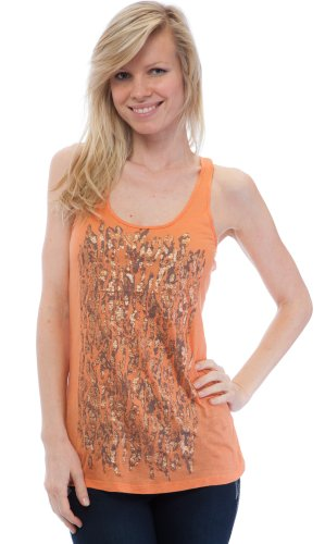 WallFlower Juniors Animal Print Tank Top in Coral Size: Medium