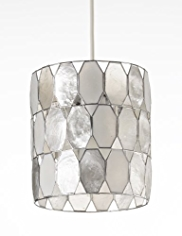 Capiz Round Diamond Pendant Ceiling Light