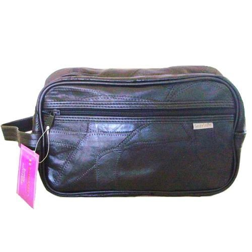 GENUINE LEATHER TOILETRY TRAVEL BAG