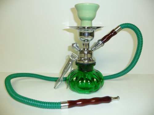 Glass Hookah Shisha Nargila + Tongs + All Rubber