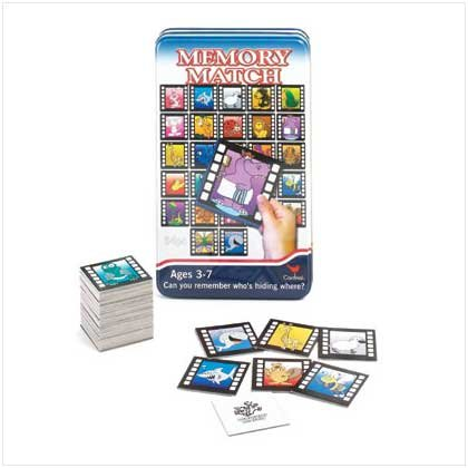 Memory Match Game In Tin Box - Style 36728