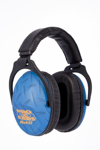 Pro Ears - ReVO - Hearing Protection - NRR 25 - Youth and Women Ear Muffs - Blue Diamond Plate (Passive Hearing Protection compare prices)