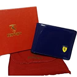 Blue Fasionable Mens Wallet Ferrari