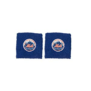 Franklin Sports MLB New York Mets Team Wristbands