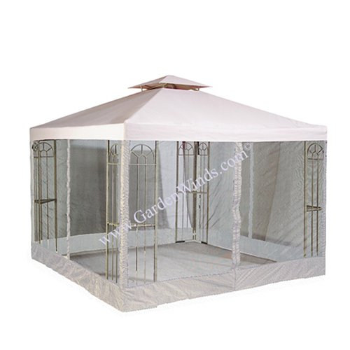 Amazon.com: EZ UP Canopy 10' feet x 10' feet w/ Awning - 4 Zipper