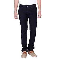 Provogue Men's Smith Slim Fit Jeans (8903522475726_104053-BK-022_32W x 33L_Black)