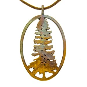 California Redwood Pendant Necklace