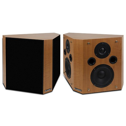 Fluance SXBP High Definition Bipolar Surround Sound Wide Dispersion Speakers for Home Theater