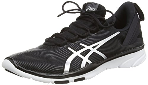 ASICS Gel-Fit Sana 2, Sneakers da Donna, Colore Nero (Black/Silver/White 9093), Taglia 7 UK (40.5 EU)