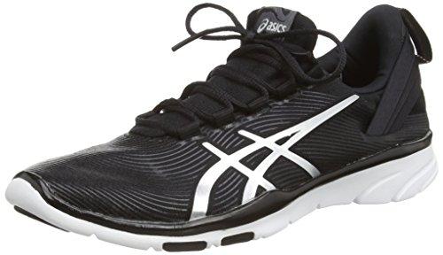 ASICS Gel-Fit Sana 2, Sneakers da Donna, Colore Nero (Black/Silver/White 9093), Taglia 7 UK (40.5 EU)
