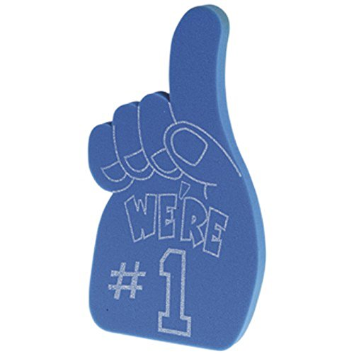 Foam Blue School Team Spirit We're Number 1 Hand (1)