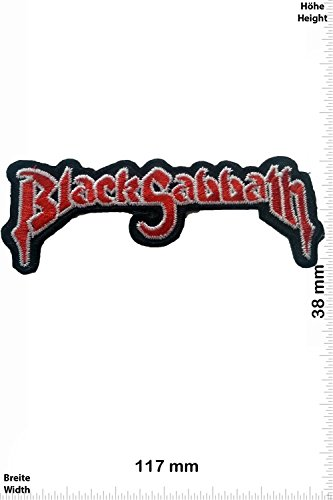 Patch - Black Sabbath - red - MusicPatch - Rock - Chaleco - toppa - applicazione - Ricamato termo-adesivo - Give Away