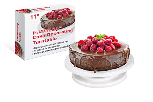 The Amazing Cake Turntable Rotating Stand with 11 Inch Platform - Perfect for Decorating & Displaying All Year Round (Tilting Turntable compare prices)