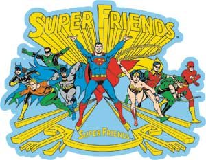 Licenses Products DC Comics Originals Super Friend Sticker