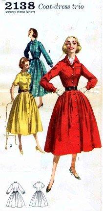 Simplicity 2138 Vintage Sewing Pattern Shirtwaist Dress Detachable Ruffle Size 14 - Bust 34