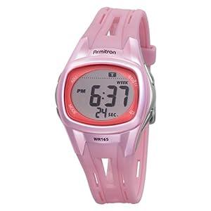 Armitron Sport Women's 456985PNK Chronograph Pink Strap Digital Display Watch