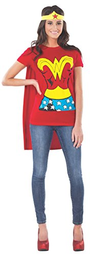 DC Comics Wonder Woman T-Shirt With Cape And Headband