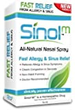 "Sinol ""All Natural"" Allergy & Sinus Nasal Spray with Capsaicin, homeopathic, decongestant, Pollen Allergies, Hayfever, Rhinitis, Pet Allergies, Mucous, post nasal drip, congestion, Safe Medicine, Safe Drug, Healthy Medicine, Tree Pollen, Fights Sinus Infections and Sinusitis, cat allergy, dog allergy"