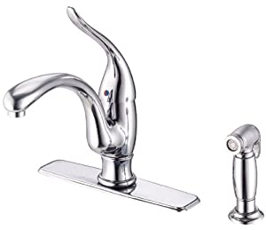 Danze D405521 Antioch Single Handle Kitchen Faucet with Matching Spray, Chrome